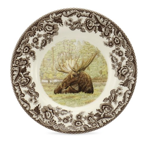 Spode Woodland Majestic Moose Bread and Butter Plate