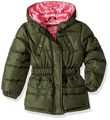 Pink Platinum Girls' Big Pop Anorak Jacket, Forest, -