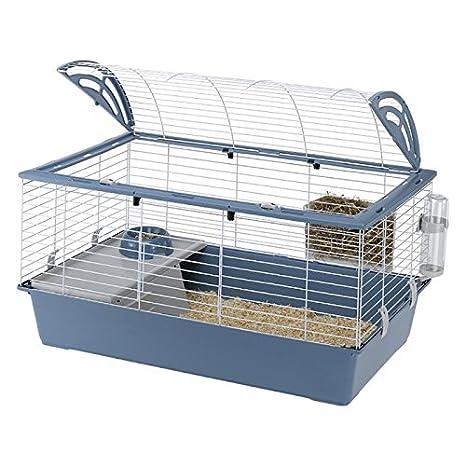 Ferplast - Jaula pequeña para mascotas Casita 100. Ideal para ...
