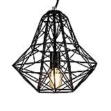 Lingkai Industrial Vintage Pendant Light 1-Light Ceiling Light Metal Lamp Fixtures