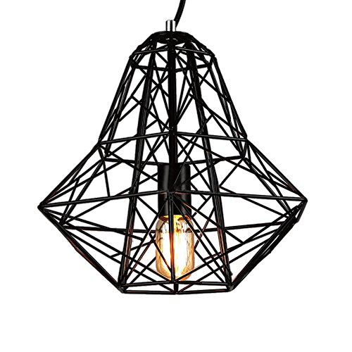 Lingkai Industrial Vintage Pendant Light 1-Light Ceiling Light Metal Lamp Fixtures