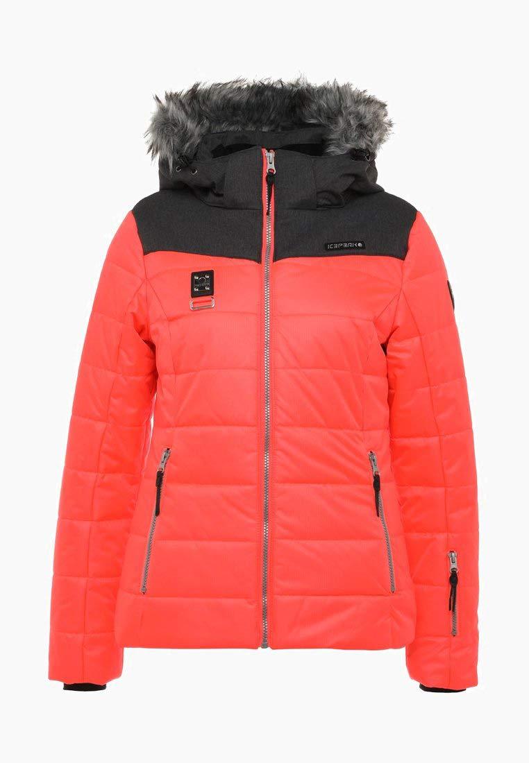 Icepeak 48 Skijacke Damen Pridie Orange Größe DHI29EWY