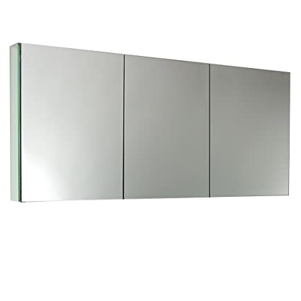 Fresca FMC8019 60u0026quot; Wide Bathroom Medicine Cabinet With Mirrors