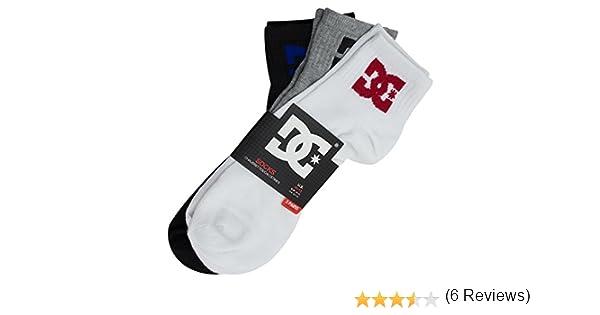 DC Shoes Calcetines 3-Pack Hombre Quarter Tobilleros Cortos Deporte, Tejido Swift-Dry, Colores Blanco/Negro/Gris, Talla única EUR 40-45, Pack de 3 Pares: Amazon.es: Ropa y accesorios