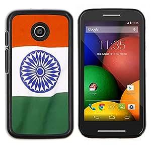 TECHCASE---Cubierta de la caja de protección para la piel dura ** Motorola Moto E ( 1st Generation ) ** --Bandera de la India