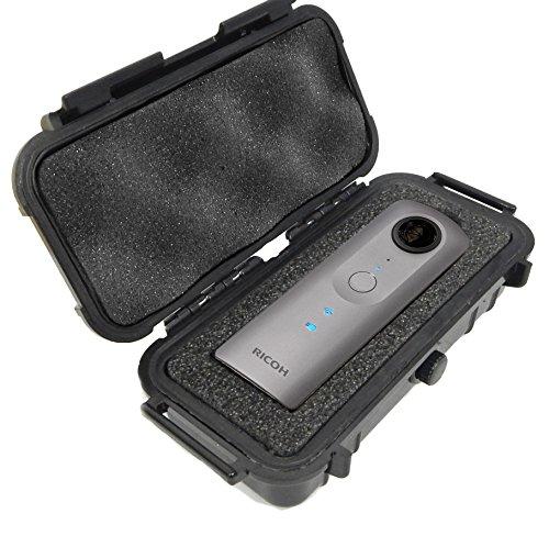 CASEMATIX Waterproof Camera Case For Ricoh Theta V 360 , Ricoh Theta S and Theta SC 360 Degree Spherical Digital Cameras - Includes Dense Absorbing Foam and Airtight Seal by Distro-Tech