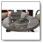The Outdoor GreatRoom Company 42-Inch British Granite Fire Pit Table