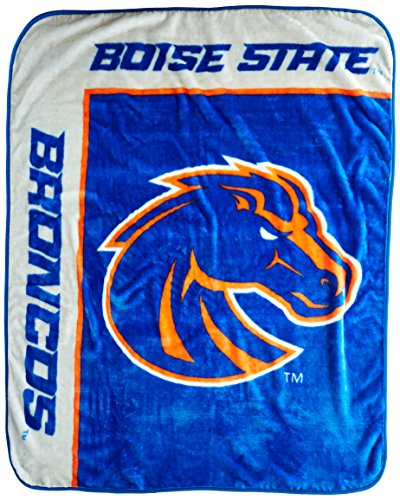 Officially Licensed NCAA Boise State Broncos School Spirit Plush Raschel Throw Blanket, 50