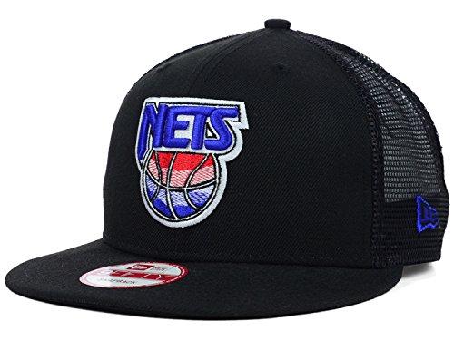 New Jersey Brooklyn Nets NBA 9Fifty New Era Team Trucker Mesh Snapback Hardwood Classics Black Hat Cap