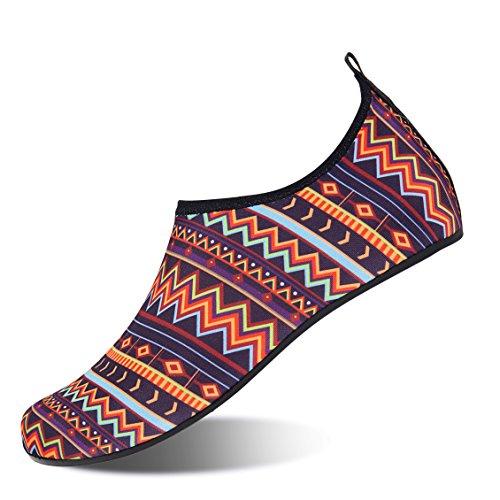 NING MENG Aqua Socks Beach Water Shoes Barefoot Yoga Socks Quick-Dry Surf Swim Shoes for Women Men Bohemian