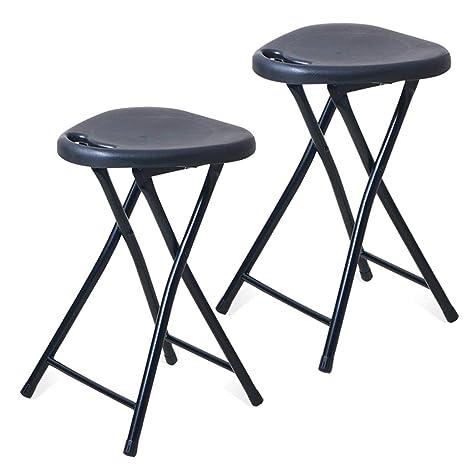 Swell Amazon Com 2 Pack Folding Stool Portable Plastic Chair Creativecarmelina Interior Chair Design Creativecarmelinacom