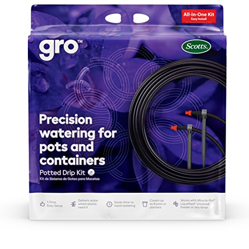 - Scotts All-in-One Precision Drip Kit | Easy-To-Use Precision Watering Drip Kit | Reduces Water Waste | Multiple Drip Emitters Target Specific Plants & Provide Water Where It Is Needed Most