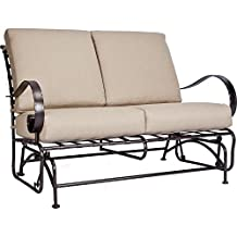 OW Lee Classico-W Love Seat Glider in Copper Canyon Finish, Flagship Stone Fabric