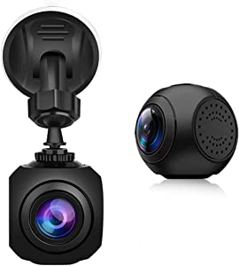 ZQQFR Car DVR Dash Camera, Drive Recorder 1080P HD Night Vision Loop Recording Parking Monitor G-Sensor Motion Detection Dash Cam