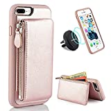iPhone 7 Plus Wallet Case, iPhone 8 Plus Card Holder Case, LAMEEKU iPhone 7 Plus/8 Plus Slim Leather Case Detachable Credit Card Pockets, Kickstand Cover for Apple iPhone 7 Plus/8 Plus 5.5