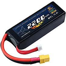 melasta 4S 14.8V LiPo Battery 2200mAh 50C RC Lipo Batteries with XT60 Plug for RC Airplane Helicopter Quadcopter Vehicle Boat [UL&CE Certificated]