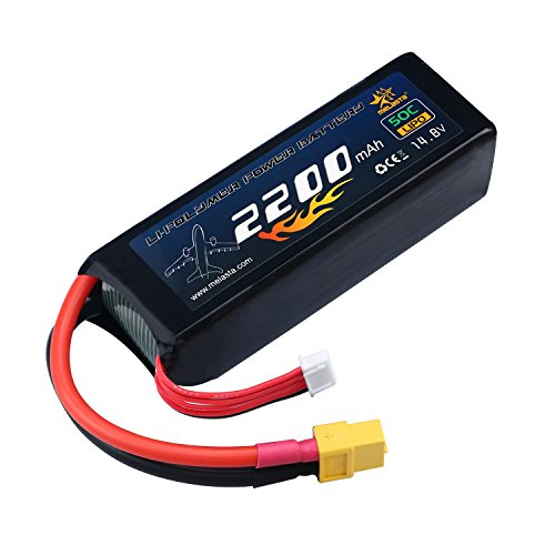 melasta 4S 14.8V LiPo Battery 2200mAh 50C RC Lipo Batteries with XT60 Plug for RC Airplane Helicopter Quadcopter Vehicle Boat [UL&CE - 2200 Mah Battery Rc
