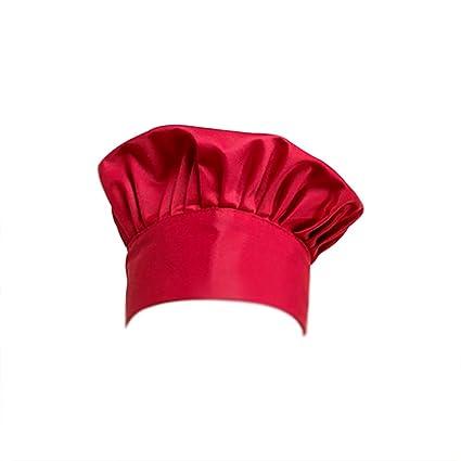 Chytaii Sombrero Chef Gorro de Cocinero Gorro de chef Gorra Ajustable de  Trabajo Tapa de Trabajar ccb173990fc