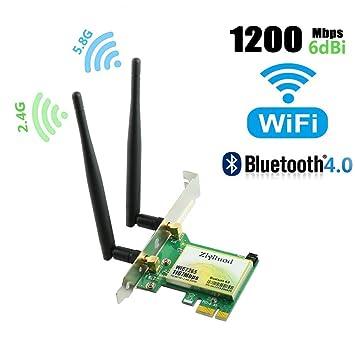 Tarjeta WiFi, tarjeta de red inalámbrica, WiFi Dual Band Gigabit ...