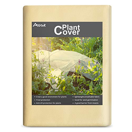 AGTEK Floating Row Covers 1oz 7×30 FT Plant Covers for Frost Protection & Seed Germination