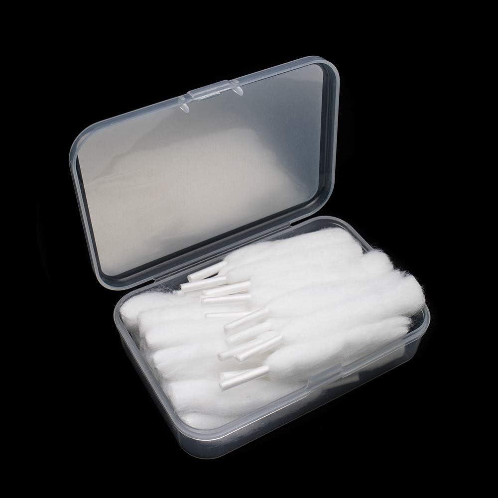 Denghui-ec, 10 unids/Caja Accesorios de Cigarrillos electrónicos 100% algodón orgánico 3 mm Ajuste en seco for Wotofo Agleted Dominant 3 mm I.D bobinas, Sin Tabaco ni nicotina (Color : 3 Box): Amazon.es: Hogar