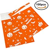 Pack4Life 10x13 Halloween Poly Mailers with Ghost Pumpkin Lantern Patterns Self Sealing Shipping Envelopes Bags Pack of 100