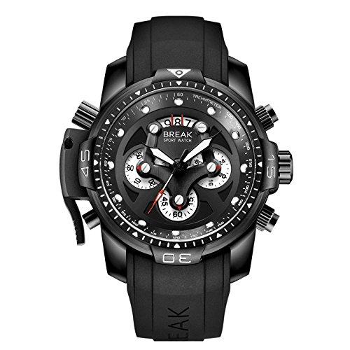WOBONGDI Men's Military Multifunction Waterproof Wrist Watche with Luminous...