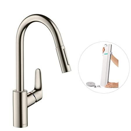Hansgrohe M4116 H240 Kitchen Tap 240 Pull Out Spray Hose
