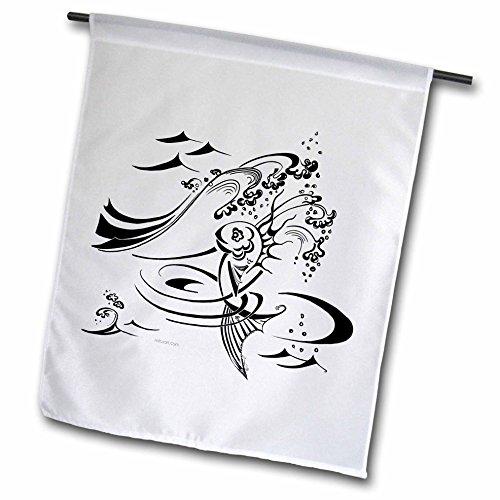 Milas Art Aquatic - Fairy Tail Fish - 18 x 27 inch Garden Flag (fl_4470_2)