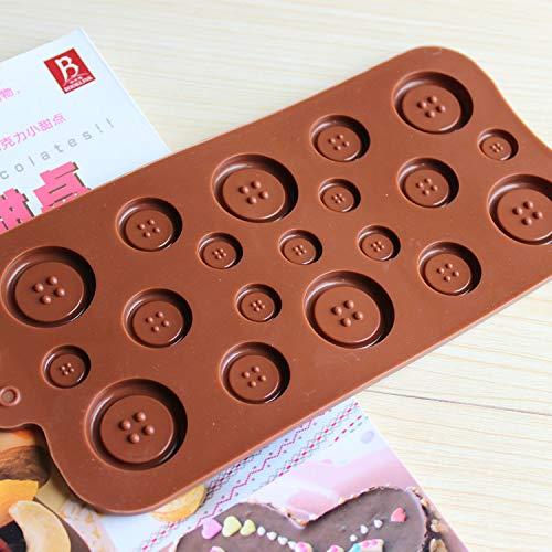 Amazon.com : AFCN Silicone Chocolate Mold, Cookies Mold, 3D Cute Button Shape Cake Decoration Tools, moldes de silicona para Fondant : Garden & Outdoor