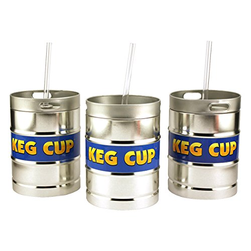 Reusable Keg Cups with Straws - 3 Cups (Kheper Beer Games)