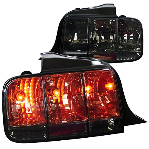 Spec-D Tuning LT-MST05G-SQ-TM Ford Mustang Sequential Smoke Tail Signal Lights Smoked Tail Lights Mustang