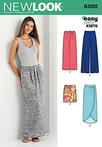 New Look Ladies Easy Sewing Pattern 6380 Jersey Knit Skirts