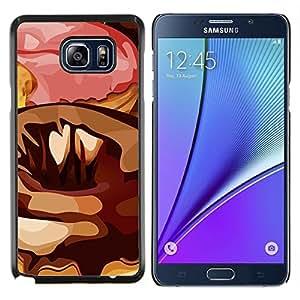 LECELL--Funda protectora / Cubierta / Piel For Samsung Galaxy Note 5 5th N9200 -- Random Arte Moderno Donut Pink Sugar chocolate --