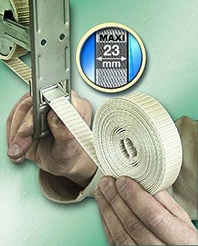 cuerda bobina 50 m PMMA correa Cinta para persianas enrollables gris pol/ímero sint/ético