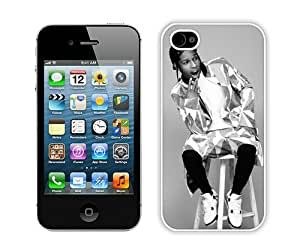 Personalized Custom Picture iPhone 4S,ASAP Rocky 5 White iPhone 4s Custom Picture Phone Case