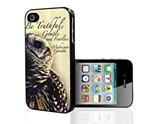 Gandhi Quote with Beautiful Owl in Backgrond Hard Snap on Phone Case (iPhone 5/5s) by ruishername
