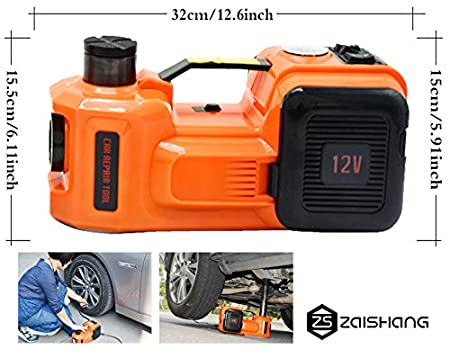 35L//min 155-450 mm 3/toneladas Gato hidr/áulico el/éctrico de ZS Zaissang 12/V 150/W