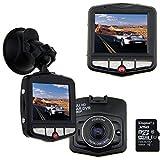 AUBBC Full HD 1080P Car Vehicle HD Dash Camera DVR Cam Night Vision Recorder with 32GB Micro SD Card Black