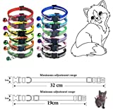 Extodry 12 Pack Reflective Cat Collars,Adjustable