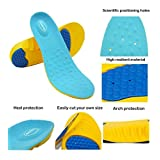 Super Sport Support Memory Foam Orthotics Arch Pads Pain Relief Shoe Insoles, Easily cut your own size (Extra Protection/ Men 8-12 or Women 9-13)