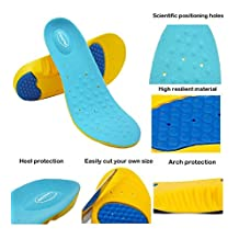 New HappyStep Gel Insoles Provides Outstanding Shock Absorption and Cushioning for Ball of Foot and Heel, Comfort Insoles for Walking, Jogging and Running