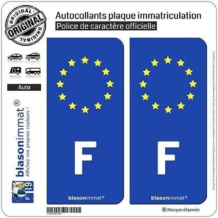 Run-R Stickers-Pegatinas de la placa posterior de matrícula de coche hembra, Francia Europeo-lado derecho: Amazon.es: Coche y moto