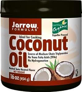 Jarrow Formulas 100% Organic Coconut Oil, Supports Cardiovascular Health, 16 Ounce