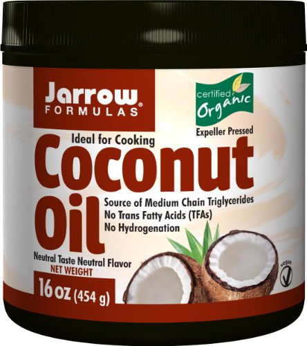 Jarrow Formulas Coconut Oil 100% Organic, for Cardiovascular Health,  16 Ounces (Pack of (Formulas Organic Coconut Oil)
