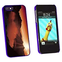Graphics and More Sunset Lake - Mountain Landscape Snap-On Hard Protective Case for Apple iPhone 5/5s - Non-Retail Packaging - Blue
