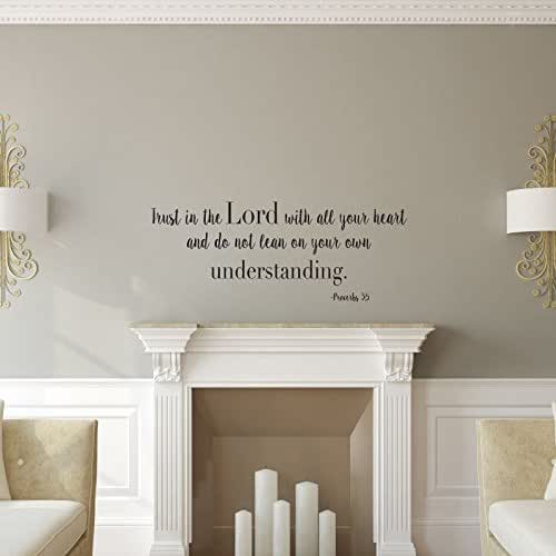 "Amazon.com: ""Trust In The Lord"" Wall Decal Psalms 3:5"