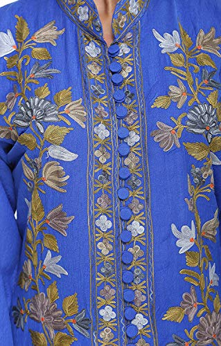 The MadhuSudan Gallery Kashmiri Women's Coat Jacket Crewel Hand Embroidered Chinar Work by The MadhuSudan Gallery (Image #2)
