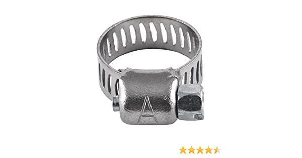 1//4 to 5//8 SAE size 4 Stainless Steel Band /& Housing 1//4 to 5//8 American Valve 10-Pack Worm Gear Hose Clamp Accord SAE size 4 CL4PK10
