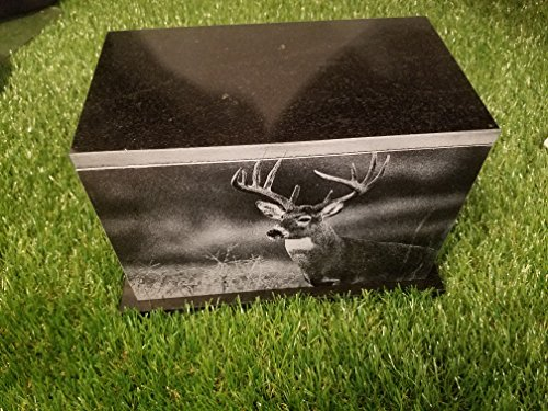175 CU.In Human Granite Urn Engraved Deer Hunting Bass Fishing by The Memories Collection